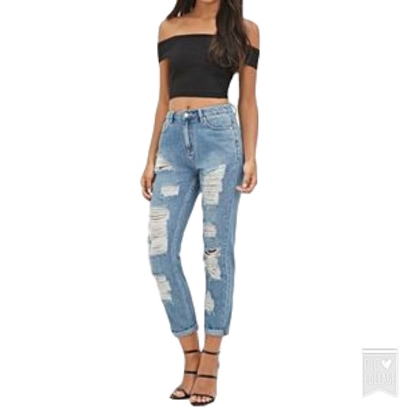 73% off Forever 21 Denim - XXI High Rise Boyfriend Jean from Good ...