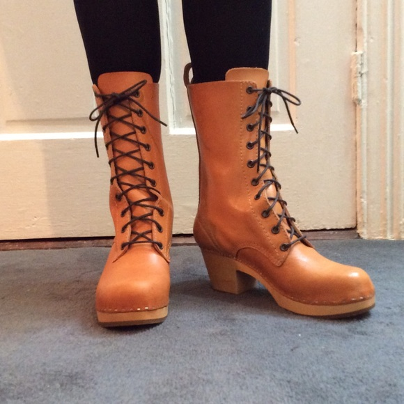 Swedish Hasbeens Schuhes   Laceup Stiefel Stiefel Laceup Never Worn   Poshmark d7e376