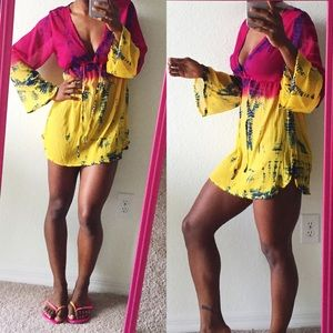 Swim - Tie Dye Cover Up/Tunic Top