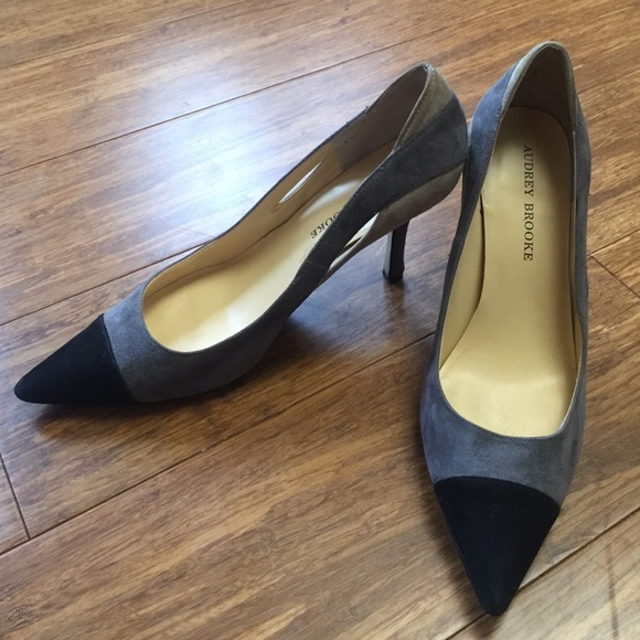 60% off Audrey Brooke Shoes - Black and Gray Suede Audrey Brooke ...