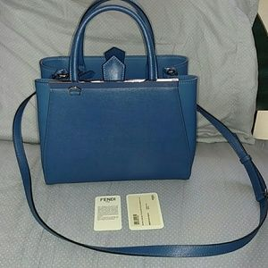 FENDI Handbags - Fendi Mini 2jours Blue Bag