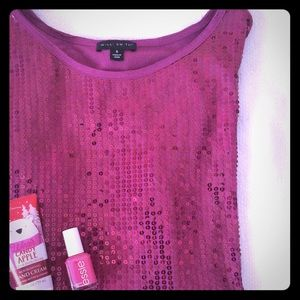 Willi Smith Tops - Willi Smith pink sequin sparkle top! Size small!