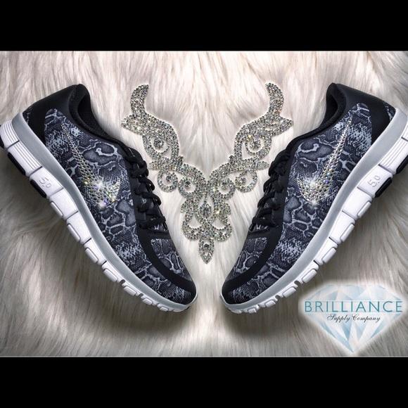a3c3b7f4200ca Nike Free 5.0 Snakeskin Print Swarovski Crystals Boutique