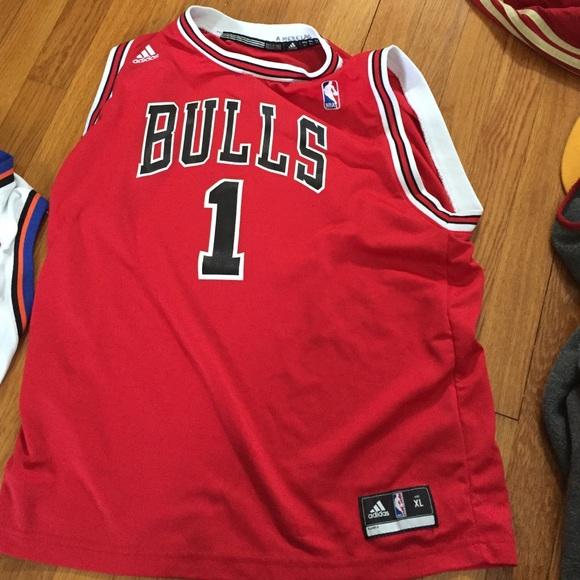 check out 3179a b58ea Bulls Derrick rose jersey kids