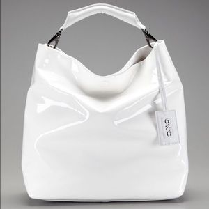 Costume National Handbags - C'N'C Costume National Faux Patent Leather Hobo