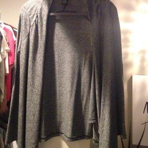 Grey and black stretchy cardigan