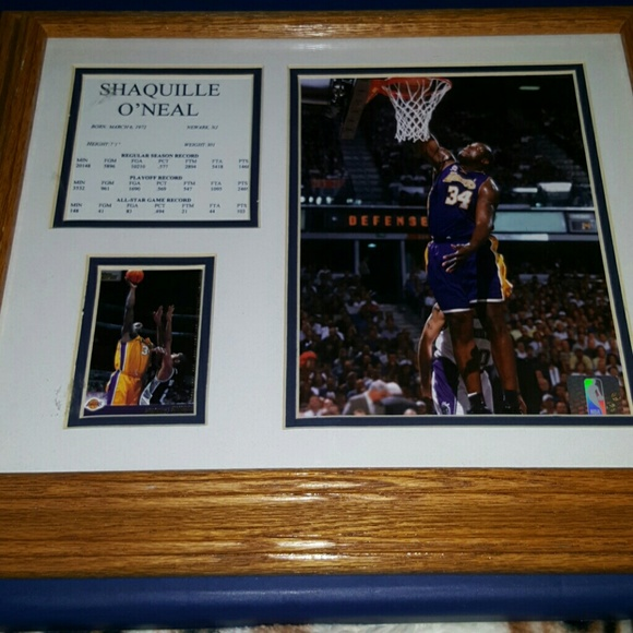 Unknown Accessories | Lakers Shaquille Oneal 34 Collectible Frame ...