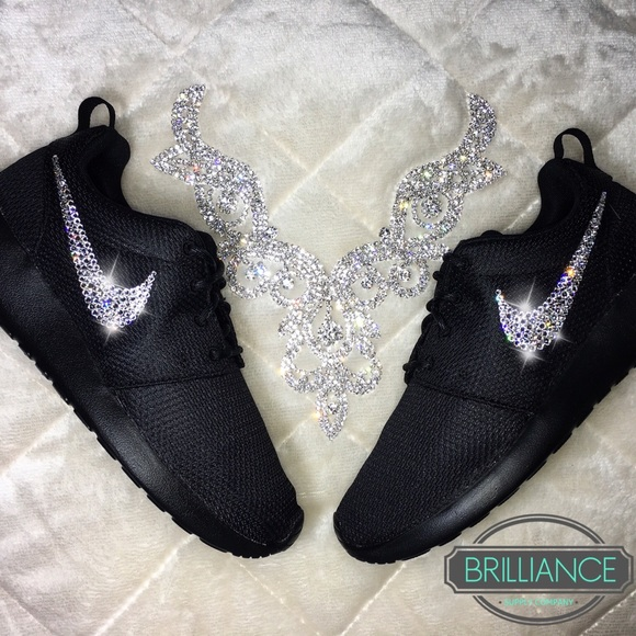 Nike Roshe One All Black with Swarovski Crystals. M 5691e479bcd4a7080b0103a0 0385812e35