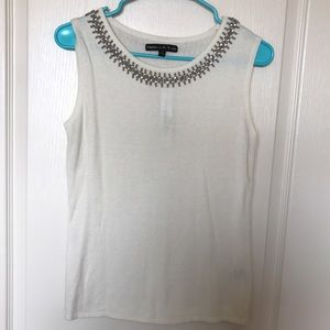 Preston & York Sweaters - NWT Sleeveless Embellished Top