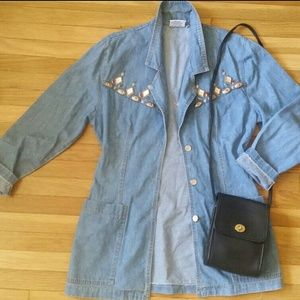 Vintage Denim Southwest Concho Jean Jacket