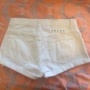 NWT white denim shorts American Apparel 27