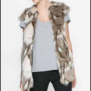 Sheinside Jackets & Blazers - Mixed faux fur vest