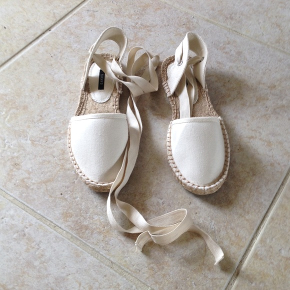 d6dcdea7f94 Forever 21 ivory lace up espadrilles