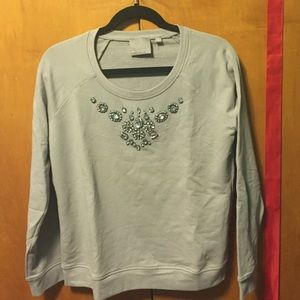 Evolution by Cyrus Sweaters - Grey Embellished Sweatshirt