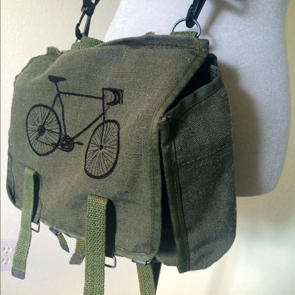 Vintage Military Rucksack with Custom Embroidery
