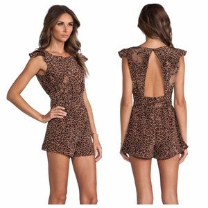 Lovers + Friends Pants - Lovers + Friends Leopard Romper