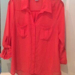 Button up sheer blouse size small