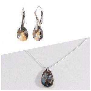 Set of matching earrings+pendant (Swarovski)