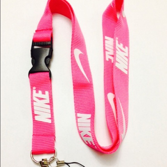 Nike lanyard pink and lime green