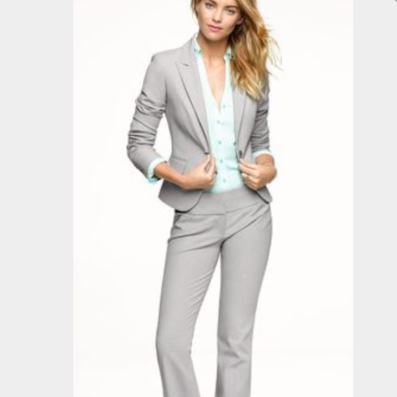 86% off Express Jackets & Blazers - Express Women's Light Grey ...
