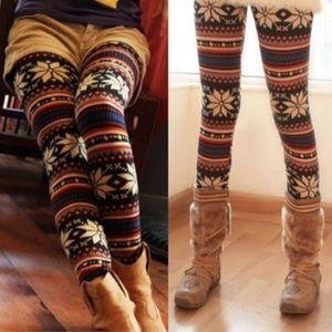 Pants - 🌸Multi color Aztec design knit leggings