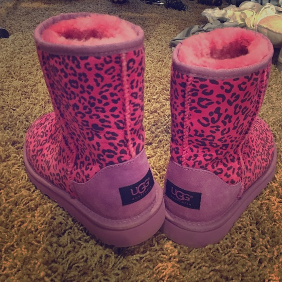 ugg shoes | pink leopard print s size 6 | poshmark