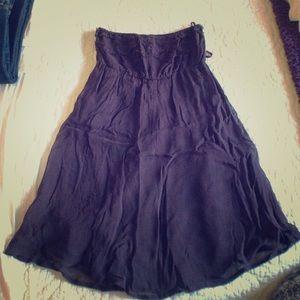Eggplant purple strapless Element dress