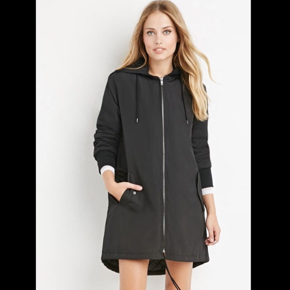 Women's hooded anorak cargo jackets