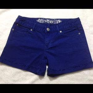Express Blue denim shorts
