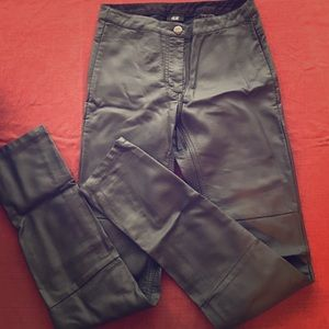 H&M Faux Leather Moto Leggings