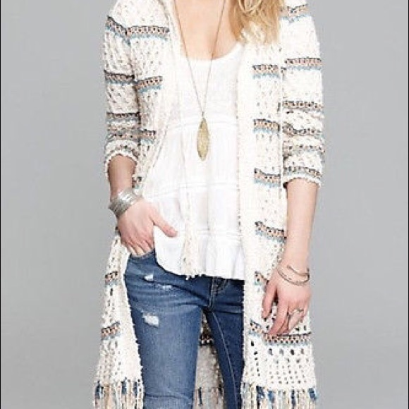 73% off Free People Sweaters - Free People Hooded Fringe Cardigan ...