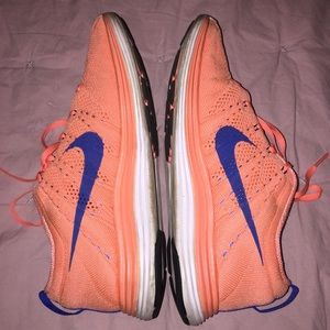 wholesale dealer ca941 153a1 Nike Shoes - Nike Flyknit Lunar 1 - Coral   Blue
