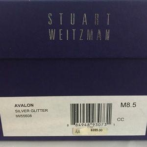 36bcf78dd7c Stuart Weitzman Avalon Silver Glitter Heels HTF LE