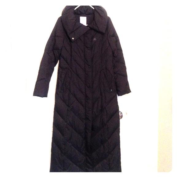 427734365 JLO Black Winter Coat - Ankle Length - Woman's Sml
