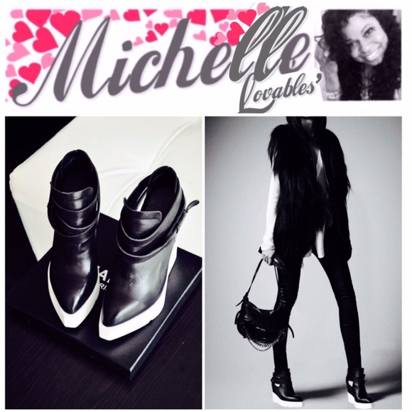 Black Matt Leather Women Ankle Boots