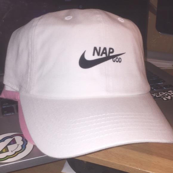 455ccb06bca Nap God hat adjustable strapback white