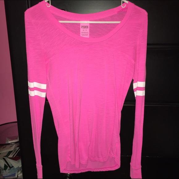 63% off PINK Victoria's Secret Tops - VS Pink long sleeve shirt ...