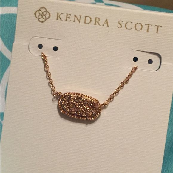 Kendra Scott Jewelry Rose Gold Drusy Elisa Necklace Poshmark