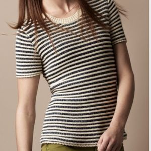 Burberry Brit Knitted Tee, Size Small
