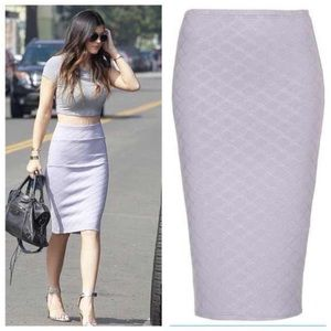 Topshop Dresses & Skirts - Lilac quilted Skirt ( as seen on Kylie Jenner )