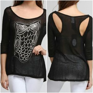 Moon Collection Owl Top