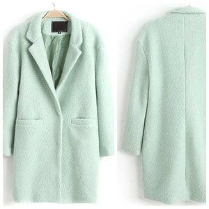 Sheinside Jackets & Blazers - Mint Coat