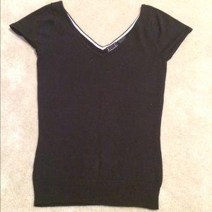  Kersh Black Knit Top