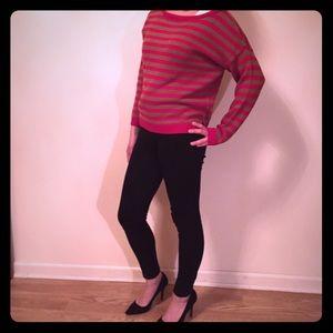 ♥️ red gold stripe Zara sweater