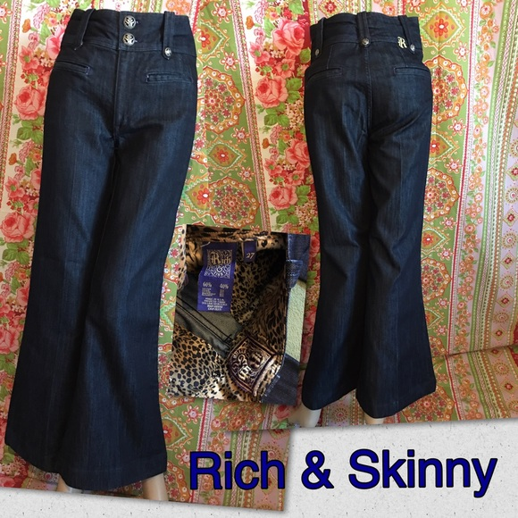 Rich and skinny wide leg jeans
