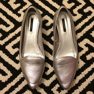 Forever 21 Shoes - Metallic Pointed Toe Flats