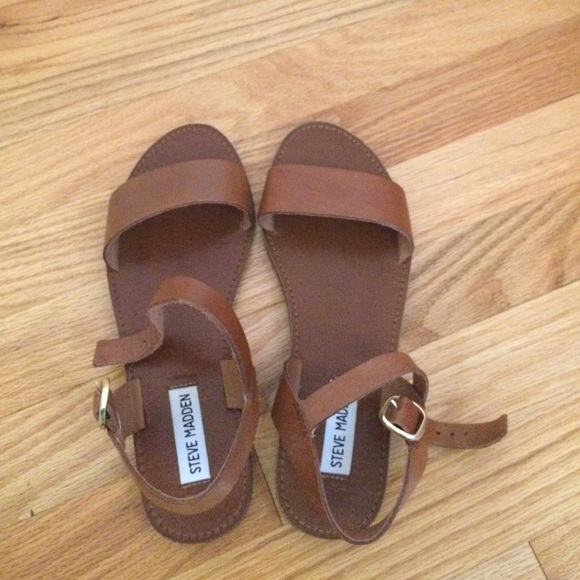 8c88cd17a74 Steve Madden Donddi Tan Leather sandals