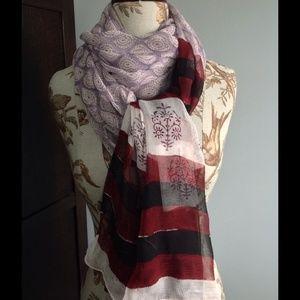 *SALE* RETAIL NWT hand block printed chiffon scarf