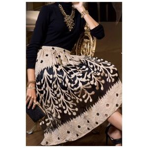 A-Line Organza Skirt