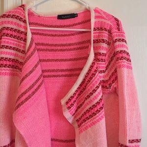 Shophopes Sweaters - ShopHopes pink knit cardigan size sm/med